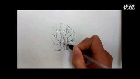 高中美术微课视频大赛获奖视频《徒手画树》