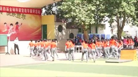 小学体育人教版五六年级《1.跳上成蹲撑,起立,挺身跳下的学练》河南李文宝