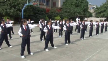 《旭日东升武术操》冀教版一年级体育,四川 沙晓花