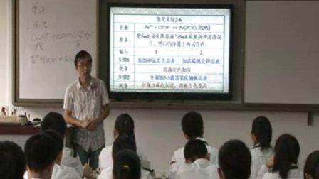 陕西省示范优质课《影响化学平衡的条件》高二化学,西安83中学