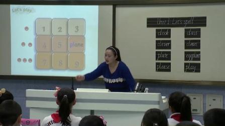 人教版英语五下第一单元A《Let's spell》课堂教学视频实录-施虹
