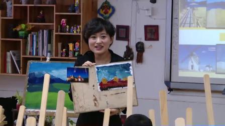 浙美版美术六上《色彩风景》课堂教学视频实录-吴静波