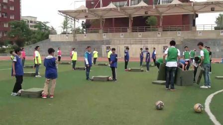 《足球-脚内侧踢球》人教版初一体育与健康,余乐
