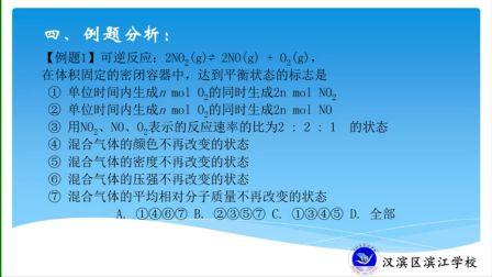 《反应条件对化学平衡的影响》人教版高一化学-合阳中学-杨俊-陕西省首届微课大赛