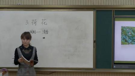 《3 荷花》部编版小学语文三下教学视频-陕西咸阳市_淳化县-陈娜