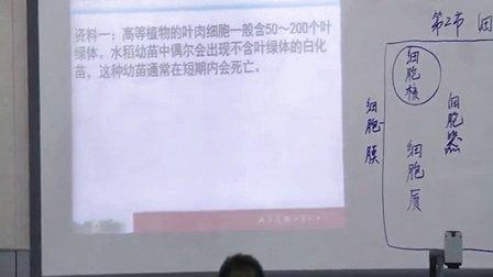 2015年江苏省高中生物优课评比《细胞器》教学视频,钱敏艳