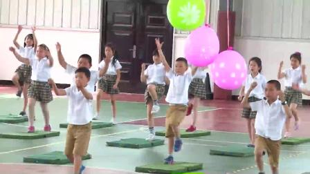 小学体育五年级《单脚起跳触高物》课堂教学视频实录-蒋静巧