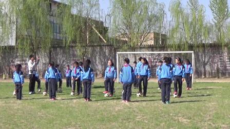 《足球游戏:运球接力》科学版体育六年级,晋中市县级优课