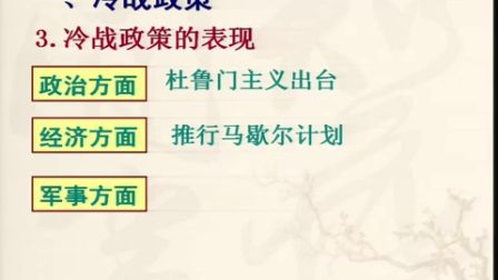 初中历史人教版九下《冷战中的对峙》天津佟蕊