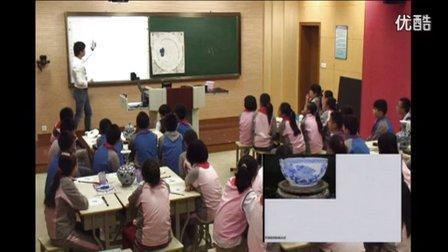 浙美版六年级美术下册《青花瓷》教学视频,2014年优质课