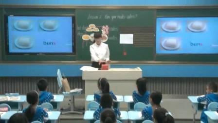小学英语科普版三下《Lesson 7 Can you make cakes-》河南张西园
