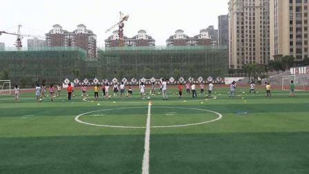 《足球脚内侧传球及接力游戏》科学版体育六年级,刘恩涛