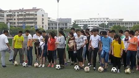 《足球-脚内侧传接球》人教版初二体育与健康,方文景