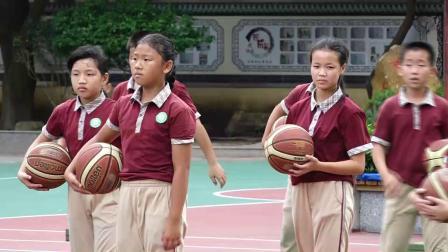 《小篮球运、传球,投篮综合游戏》科学版体育六下,欧知刚