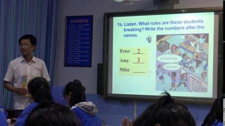 浜烘�����辫��涓�涓� Unit 4 Don��t eat in class锛���瀛�瑙�棰�瀹�褰�锛��撮�锛�