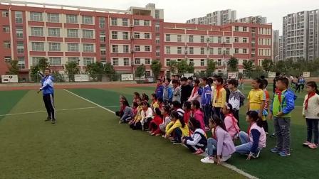 《投掷:合作抛掷不同形状的物体》科学版四年级体育,安徽省县级优课