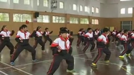 浙教版体育五下《武术操二》课堂教学视频实录-李燕燕