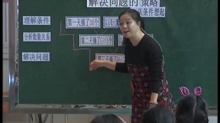 《解决问题的策略-从条件想起》小学数学三年级获奖教学视频-全国苏教版小学数学第五届教学观摩会-阮敏莉