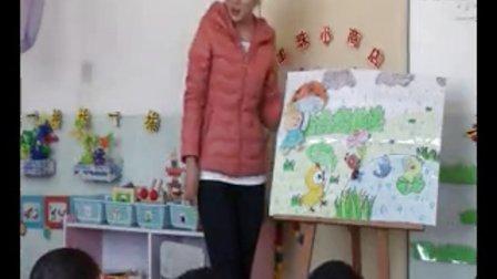 幼儿园小班示范课:语言活动《下春雨了》